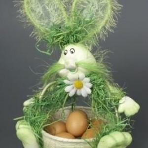 "Корзина для яиц ""Зайчик"" зеленая 30см"