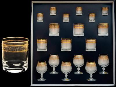 Набор бокалов стекл. 18 предметов