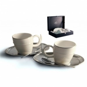 Чайный набор на 2 персоны «Ричоло» (серебро)