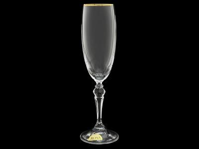 """Бокал для шампанского """"Золотая отводка"""""""