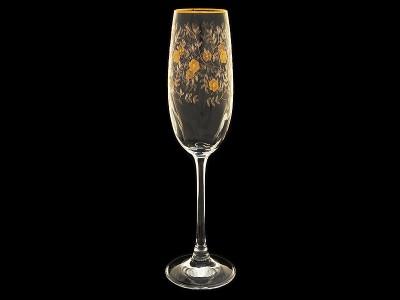 """Бокал для шампанского """"Золотые цветы"""""""