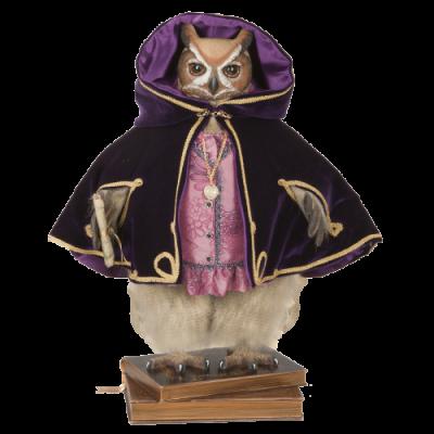 «Сова Фрау Адель» - Кукла коллекционная