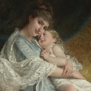 """Картина  """"Материнская Любовь""""  -худ. Emile Munier"""