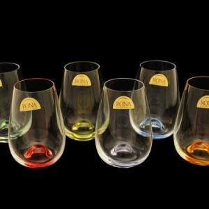 Набор стаканов для воды разноцветн 6 штук