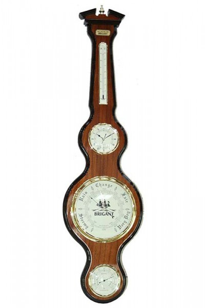 Часы-метеостанция: барометр, термометр, гидрометр 28*106см