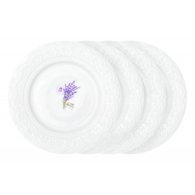 Набор из 4-х тарелок Кружева Лаванда.