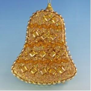 Набор из 6 золотистых колокольчиков