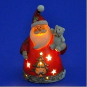 """""""Дед Мороз с мишкой"""", со светодиодами, 8*5*10см."""