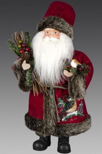 """Дед Мороз """"Лесной"""" в красной шубе и сапогах, с птичкой ."""