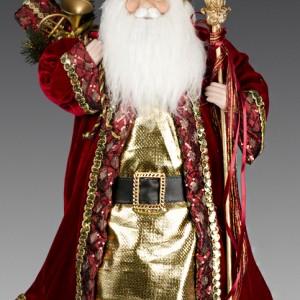 Дед Мороз в бордово-золотой шубе