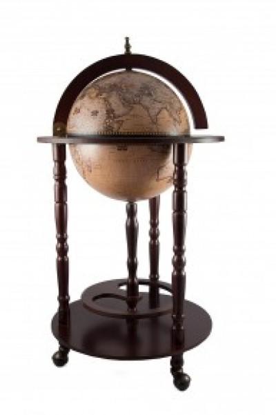 Глобус-бар напольный d=33см, 44*44*88см