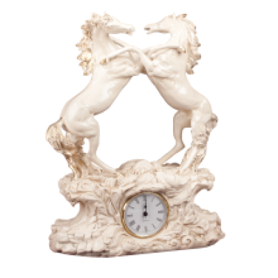 Часы настольные / каминные Кони