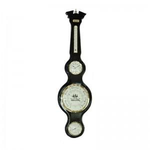 Часы-метеостанция: баромерт, термометр, гигрометр 28*106см