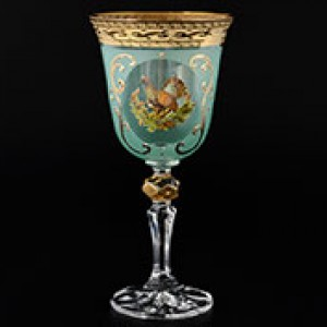 Набор бокалов для вина 220 мл Охота зеленая