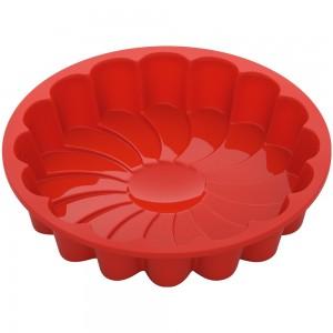 Форма для выпечки в виде цветка силиконовая, 23x23x4,5 см