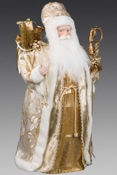 Дед Мороз в кремовой шубе 61см