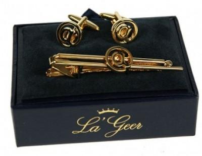 Подарочный набор : заколка для галстука, запонки