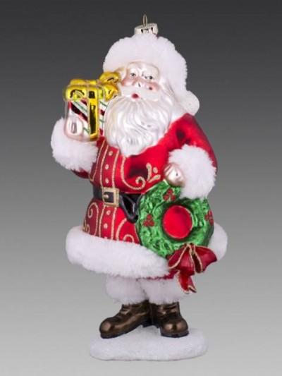 Дед Мороз на подставке в красной шубе