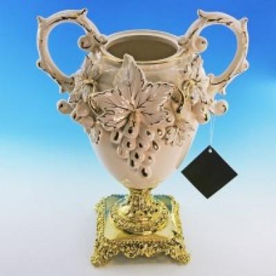 """Керамическая ваза для цветов """"Барокко"""""""