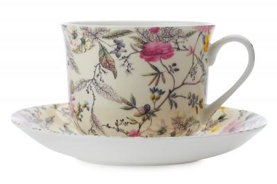 """Чашка с блюдцем  """"Летние цветы"""" 0,48л"""