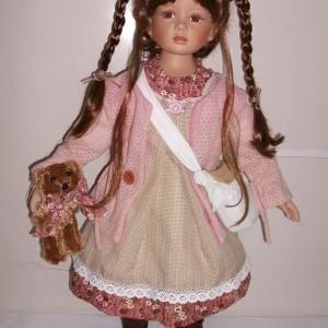 Кукла фарфоровая 66 см Глория