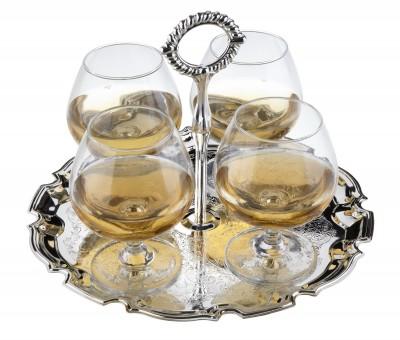 Набор бокалов для бренди на подносе, 250 мл (5 пр)