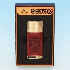 Зажигалка Герб России с искусственной кожей 33*10*75мм