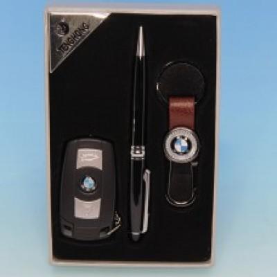 """Подарочный набор """"BMW"""" : зажигалка, ручка, брелок"""