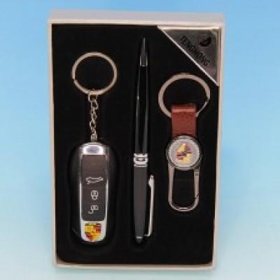"""Подарочный набор """"Porsche""""  : зажигалка, ручка, брелок"""