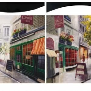 Картина Парижские Кафе 58х58 см (пара)