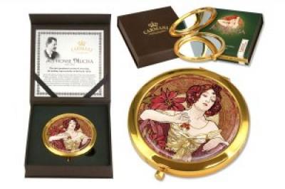 Зеркало карманное Рубин (А. Муха)