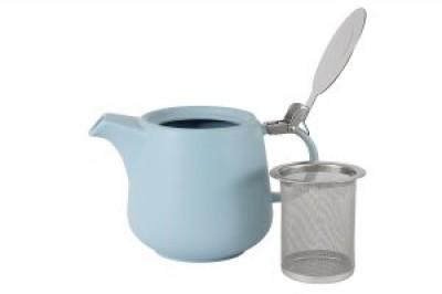 Чайник с ситечком Оттенки (голубой)