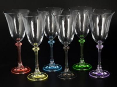 Набор бокалов для вина 250 мл ножка Арлекино (6 шт)