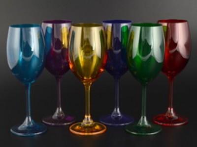 Набор бокалов для вина 250 KLARA цветные