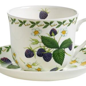 Чашка с блюдцем Ежевика