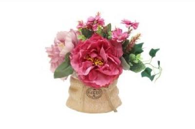 Декор.цветы Букет с пионами тём.розов
