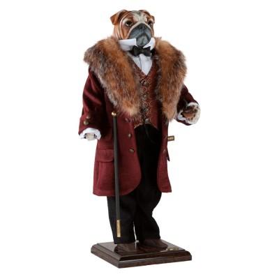 BOGACHO Собака бульдог Джон Стюарт Милль - коллекционная кукла
