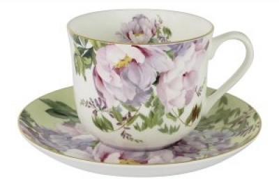 Чашка с блюдцем  Райский сад в подарочной упаковке