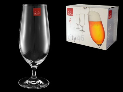 """Бокал для пива """"Citi""""6 шт Гладкое стекло"""