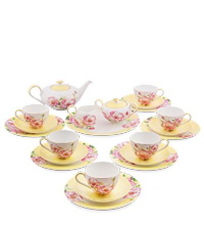 """Чайный сервиз на 6 перс. """"Пионы"""" (Torino Peony Pavone)"""