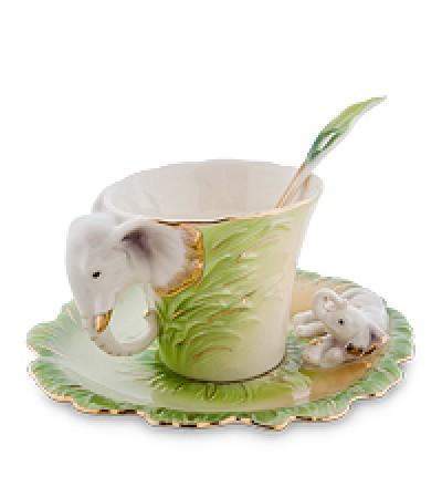 """Чайная пара """"Слоны"""" (Pavone)."""