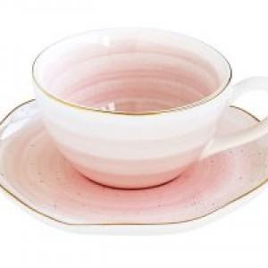 Чашка для кофе с блюдцем Artesanal (розовая)