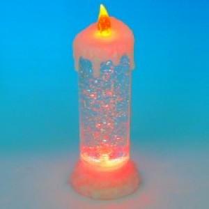 10*10*24см Свеча акриловая со светодиодами