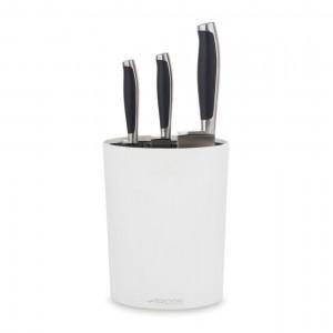 Набор из 3-х ножей с белой подставкой, ARCOS.