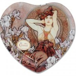 Тарелка в форме сердца Аметист (А. Муха)
