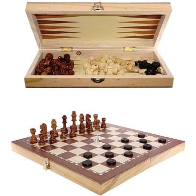 Набор настольных игр 3 в 1 (шахматы, шашки, нарды)