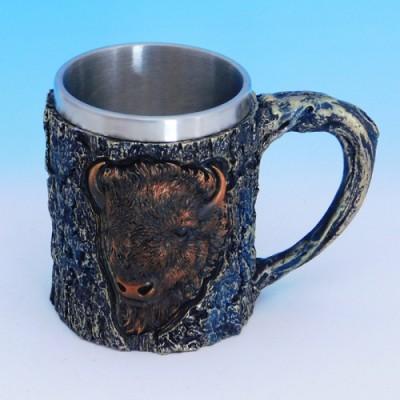 Кружка нерж.сталь/искусственный камень 15*10*11,5см, 500 мл