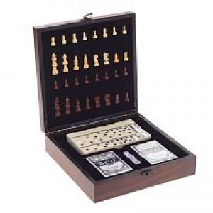Игра настольная 3 в 1 (Шахматы/Домино/Покер).
