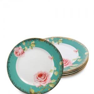 Н-р из 6 тарелок Роза (Milano Rose Pavone)
