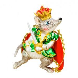 Символ года: Мышиный Король в красном плаще со шпагой(стекло)7,6х11,4 см